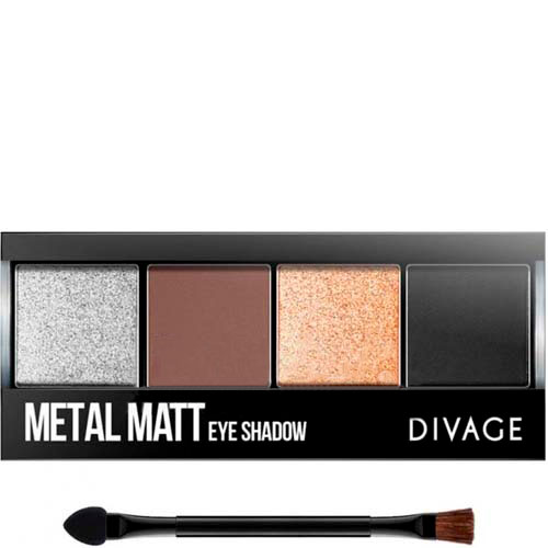 Divage Палетка теней для век Palettes Eye Shadow Metall Matt