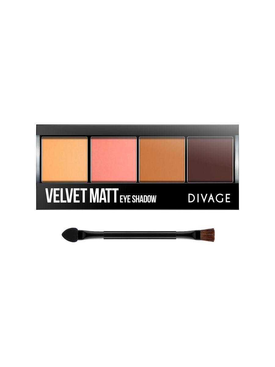 Divage Палетка теней для век Palettes Eye Shadow Velvet Matt