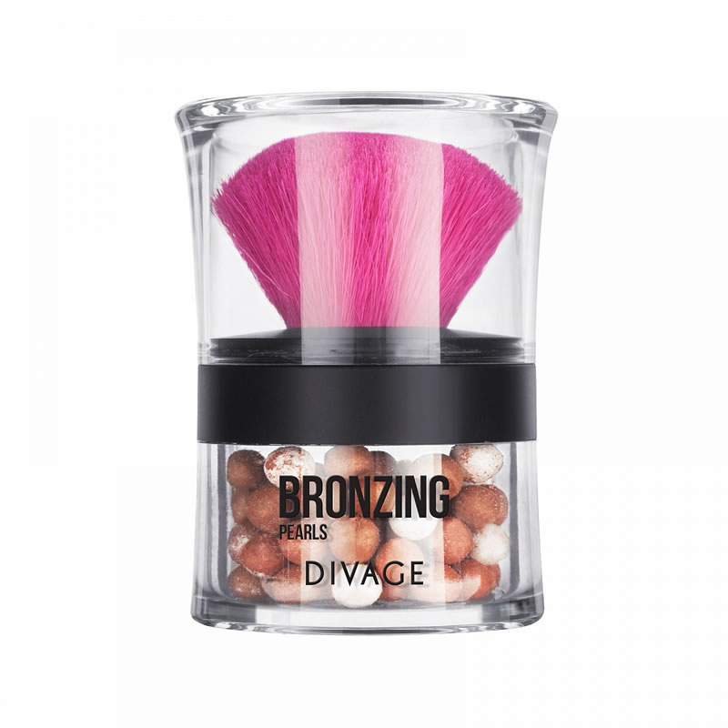 Divage Bronzing Pearls пудра-бронзатор в шариках с кисточкой