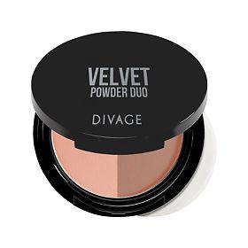 Divage Пудра компактная двухцветная Velvet Powder Duo