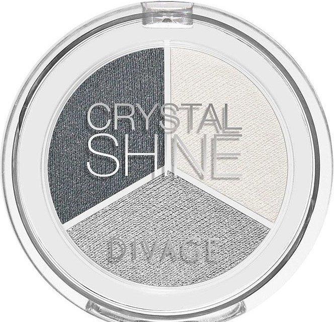 Divage Тени для век трехцветные Crystal Shine
