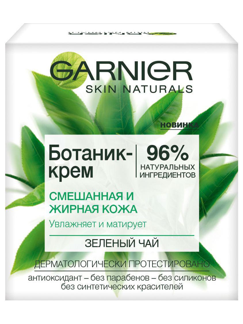 Garnier Ботаник-крем Зеленый Чай смешанная, жирная кожа