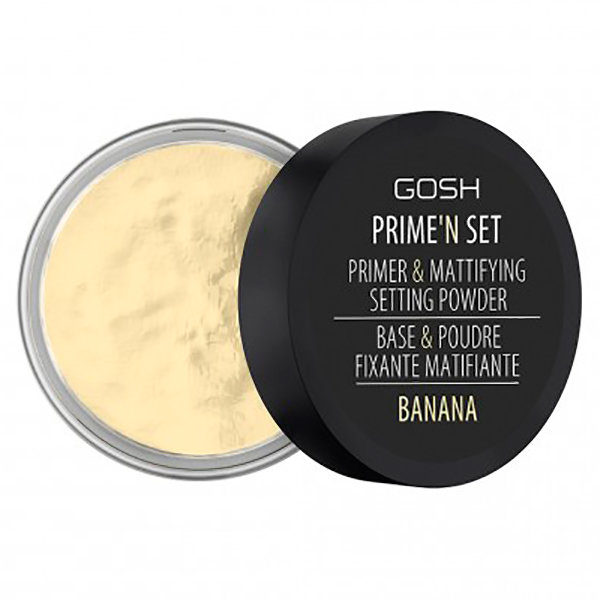 Gosh Пудра-основа для лица рассыпчатая Primer&mattifying Setting Powder Banana