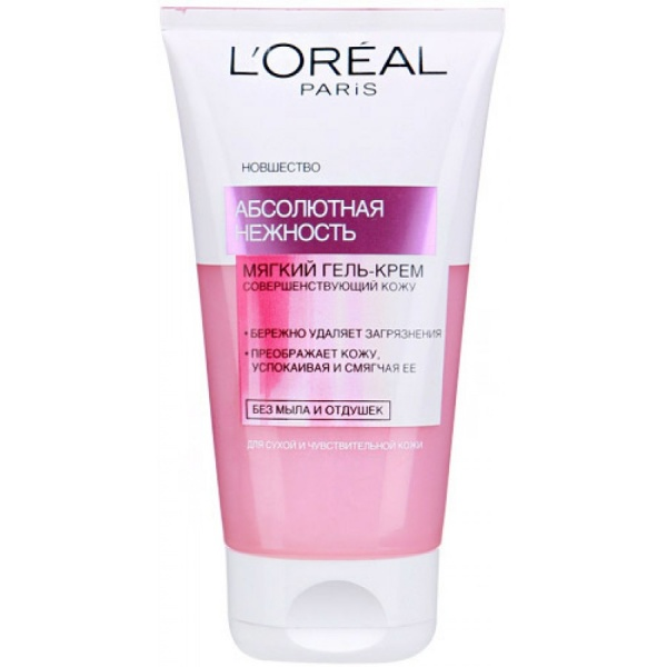 L`Oreal Абсолютная нежность Очищающий гель для сухой/чувствительной кожи