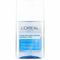 L`Oreal Средство для снятия водостойкого макияжа глаз