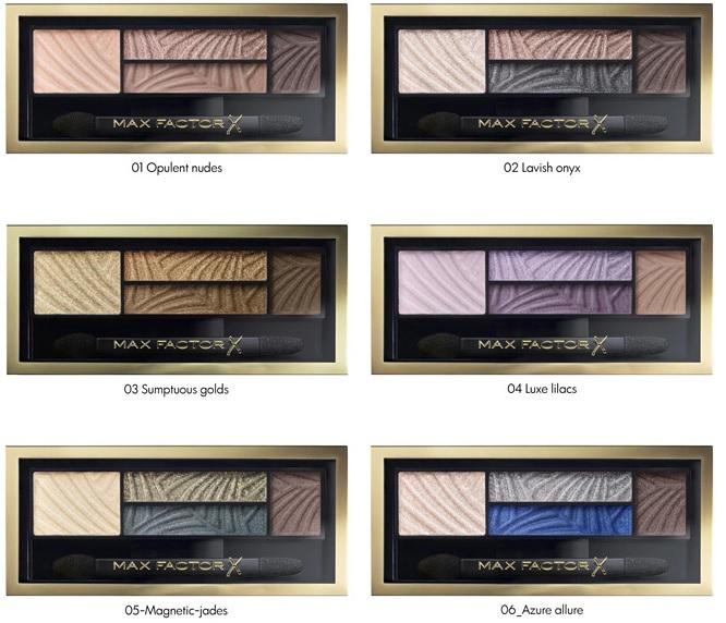 Max Factor Smokey Eye Drama Kit 2в1  4-цветные тени для век и бровей