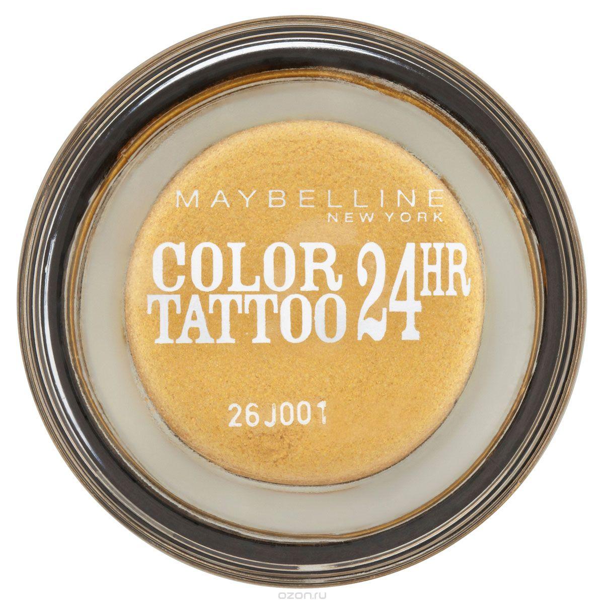 Maybelline тени для век стойкие крем-гелевые Color Tattoo 24h